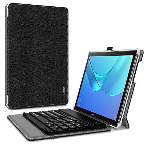"""INFILAND Clavier Coque Compatible avec MediaPad M5 10.8"""", M5 Pro, [AZERTY] Détachable Clavier avec Haute Qualité Housse Étui pour MediaPad M5 10.8 et 10.8 Pro, Noir"""