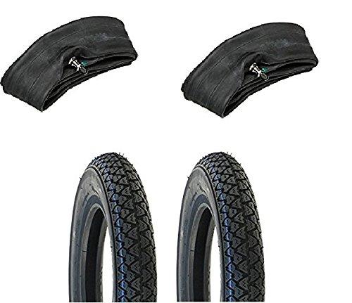 MG Kit - Vee Rubber - Paire de pneus 3.50 x 10 avec chambres à air pour Piaggio Vespa, Ape, Px Cosa, T5