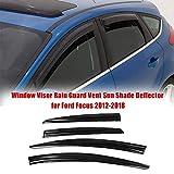 L&U 4 PCS Finestra Sunny Rain Visors Tende Sunny Rain Guard per Ford Focus 2012-2018