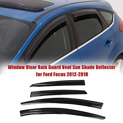YYD Auto Windabweiser Set Hochwertiger Schutz für Ford Focus 2012-2018 (4 Stück)