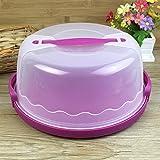 Boîte de transport pour gâteau ronde en plastique LanLan - Convient pour un gâteau de 25cm ou moins -Couleur aléatoire
