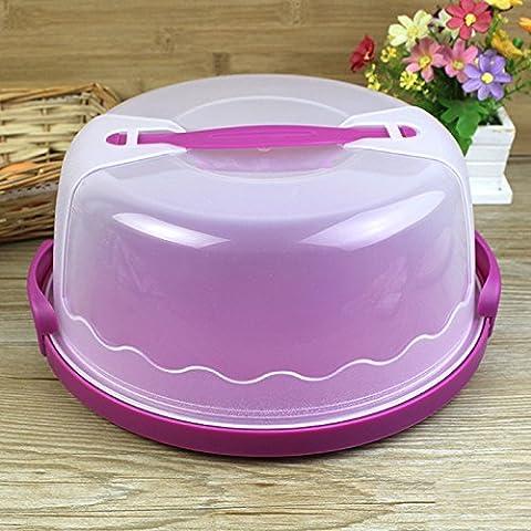 Lugii Cube Plastique Cake Keeper Caddy/support/boîte/transport Convient pour 10en gâteau