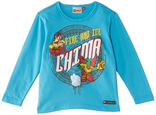 Legowear Boys Chima Timmy 203 Long Sleeve Top, Blue (Turquoise), 4 Years (Manufacturer Size:104)