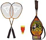 Talbot Torro Speed 2200, Set da Badminton, 2 Racchette, 2 Volani Veloci e Resistenti al Vento Uomo, Taglia Unica