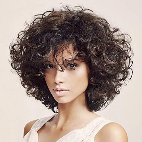 Europäische und amerikanische Mode Perücken bei Frauen Perücke Haarfarbe kurzen Absatz setzt den Verkauf, Mischfarbeperücke damen,wig,Rollenspiel