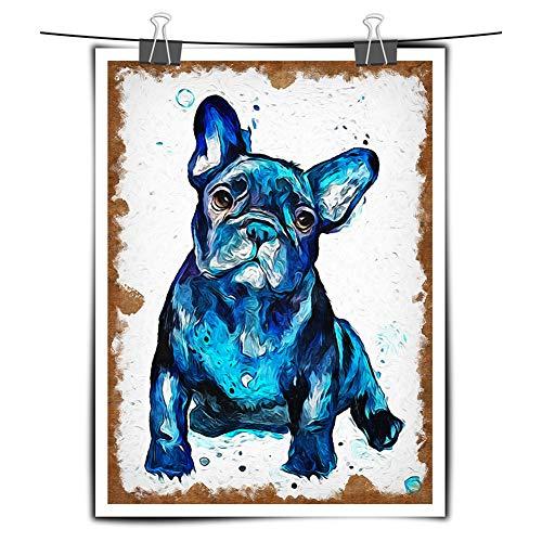 Tzdd Bulldog Acuarela Pintura Moderna ImpresióN óLeo HD Lienzo Animal...