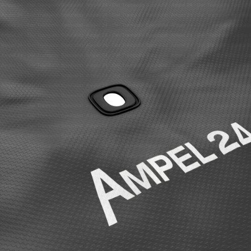 Ampel 24 Trampolin Abdeckplane | Wetterschutzplane für Gartentrampolin 430 cm | UV-beständig | schwarz - 6