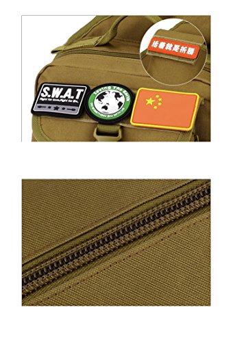 YAAGLE Fahrradtasche outdoor Gepäck Schultertasche militärisch Brustbeutel IPAD Kameratasche Kuriertasche Sporttasche-schwarz Tarnung 2