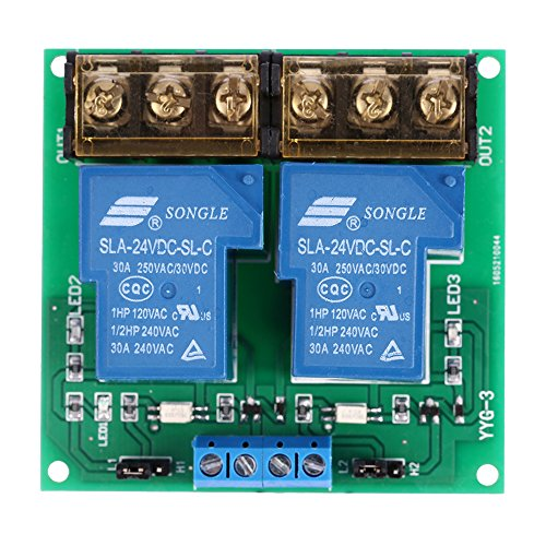 KKmoon 2 Kanal DC 24V 30A Relay Board Modul Optokoppler Isoliert High und Low Trigger Relais Modul 24v Relais
