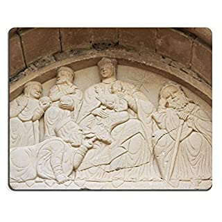 Natural Rubber Gaming Mousepad IMAGE ID 19332181 Capitel on the cover of the church of Santiago Romanesque Style Aguero Huesca Arag 3n Spain Europe