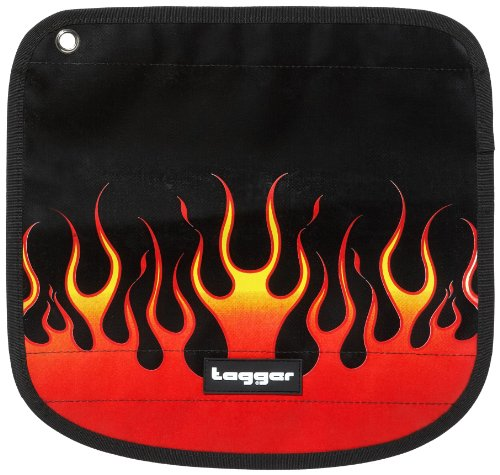 Tagger 5101-601172-OLBK Messenger Flap Flow - Burning OLBK, Valigetta unisex adulto - Nero Nero