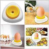 Piercing All'uovo Perforatrice Per Uova Perforatrice Per Uova Sode Con Serratura Utensili Da Cucina Semi-automatici Per Uova Bianco-Giallo
