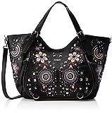 Desigual - Bag Apolo Rotterdam Women, Shoppers y bolsos de hombro Mujer, Negro, 15x30x31 cm (B x H...