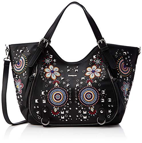Desigual Bag Apolo Rotterdam Women - Borse a spalla Donna, Nero (Negro), 15x30x31 cm (B x H T)