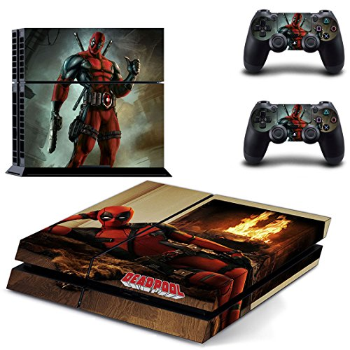 Deadpool PS4 Console and DualShock 4 Controller Skin Decal Stickers Set PlayStation 4 Vinyl Decals(2801)