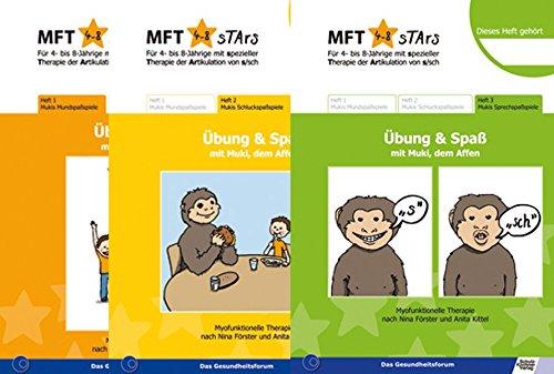 MFT Stars 3 Hefte Mukis Mund-, Schluck-, Sprechspaßspiele (Set): Übung und Spaß mit Muki, dem Affen Kittel-set