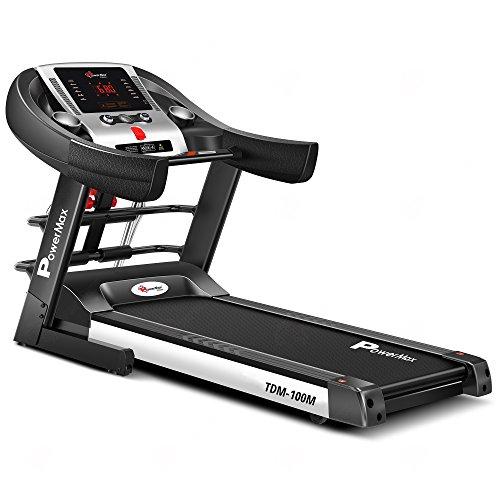 Powermax Fitness TDM-100M 1.5 HP (3HP peck) Multifunction Motorized Treadmill - NEW Auto Lubrication