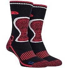 Storm Bloc - 2 pares hombre invierno trekking trabajo termicos lana merino calcetines para andar con