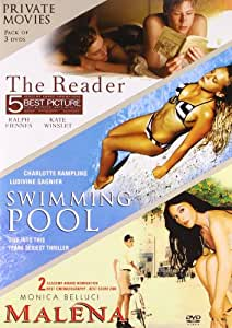 Private Movies Pack of 3 DVD's(The Reader/Swimmimg Pool/Melena)