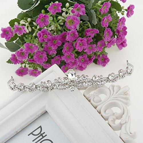 EVER FAITH® österreichischen Kristall elegant Braut Vintage Retrostil Haarband Diadem Haarschmuck klar Silber-Ton N03998-1 -