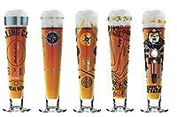 Le lot de 5 verres à bière Ritzenhoff Black Label se distingue par des décorations en métal précieux comme le platine et l'or qui donnent à l'édition son caractère somptueux. Le cadeau idéal pour tous ceux qui aiment se faire remarquer. Donne envi...