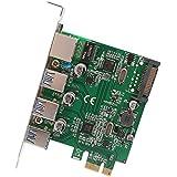 SYBA sd-pex50100sd-pex501003Puerto USB 3.1Gigabit Ethernet PCI-E 2.0x1tarjeta gráfica para Microsoft y Mac OS–Color Verde
