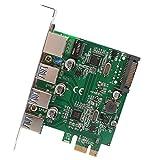 Syba SD-PEX50100 SD-PEX50100 3 Port USB 3.1 Gigabit Ethernet PCI-e 2.0 x1 Grafikkarte für Microsoft und Mac OS - Grün