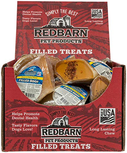 Redbarn Filled Cow Hooves Dog Treat Cheese/Bacon by REDBARN -