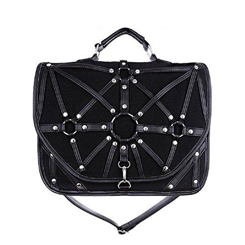 Restyle Harness Gothic Umhängetasche O-Ring Geschirr Punk Handtasche -