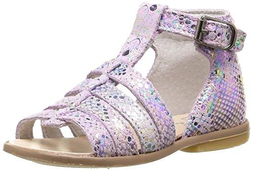 Little Mary Hosmose, Chaussures Premiers pas bébé fille Rose (Miror Rosa)