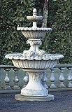 Brunnen, Gartenbrunnen, Zierbrunnen, fountain, mit Fischen Farbe terrakotta