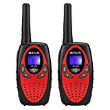Retevis RT628 Walkie Talkie Kinder PMR446 Funkgerät mit LCD Display (1 Paar, Rot)