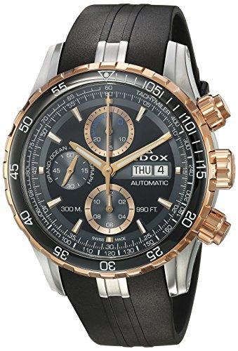 Edox Men's Analogue Swiss-Automatic Watch with Rubber Strap 01123 357RCA NBUR
