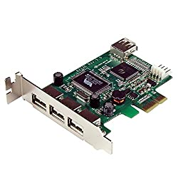 Startech.com 4 Port Pci Express Low Profile High Speed Usb Card - Pcie Usb 2.0 Card - Pci-e Usb 2.0 Card