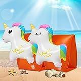 Innoo Tech Braccioli Gonfiabili Bambini, Braccioli Salvagente Bambini, Supporto per Nuoto, Doppia Camera A Prova di Perdite 3D Unicorno Animato Supporto per il Nuoto ,per Imparare a Nuotare, per 3-8 Anni, 15-30 kg