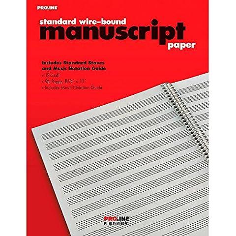 ProLine Proline Standard Wire-Bound Manuscript Paper Pad