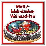Mohnkuchen mit Motiv Weihnachten