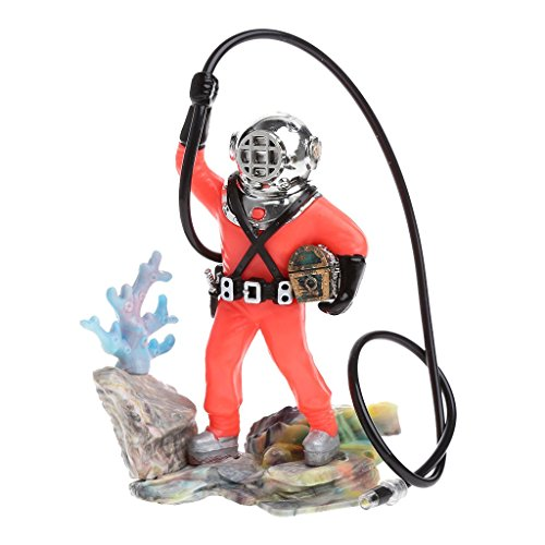 Jiamins Aquarium Sea Treasure Diver, Aquarium Ornament Realistische Design -