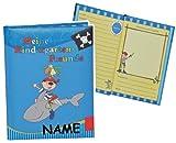 Unbekannt Meine Kindergarten Freunde Buch - Pirat für Jungen - mit Name - dick gebunden für Kindergartenfreunde Poesie A5 Hardcover - Freundebuch Poesiealbum Kinder