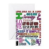 CafePress–12Schritt Slogans in Farbe–Grußkarte, Note Karte, Geburtstagskarte, innen blanko, matt