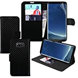 [Carbon] Samsung Galaxy Note 8 Hülle Fall / Samsung Galaxy Note8 Fall Wallet Telefon Fall Abdeckung mit Kartenhalter - Fonetic Solutions®