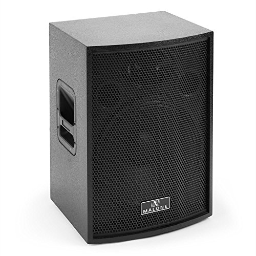 Malone BB6-15A-B Blackbox • aktive PA Box • Satelliten-Lautsprecher • PA-Lautsprecher • 600 Watt Peak-Leistung • 15''-Subwoofer • Frequenz: 60 Hz - 20 kHz • Verstärker mit Low Cut / Phasenumkehr • Stativ- / Monitor-Aufbau • Bassreflex-Gehäuse • schwarz