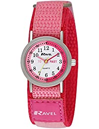 Ravel Kinder-Armbanduhr Ravel Children's Timeteacher Velcro Strap Watch. Analog Nylon Mehrfarbig R1507.54
