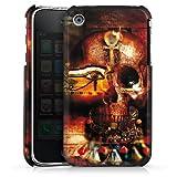 DeinDesign Coque Compatible avec Apple iPhone 3Gs Étui Housse Tête De Mort Égypte Symbole