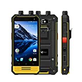 Nomu T18 Outdoor Smartphone Ohne Vertrag Handy Gegensprechfunktion NFC mit Dual SIM 5200mAh Akku 4.7 Zoll 4G Android 7.0 3GB RAM 32GB ROM IP68 Quad Core Wasserdichtes Staubdichtes Stoßfestes (Orange)