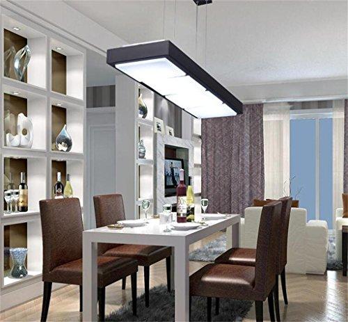 Nordic ristorante Lampadario creativo minimalista stanza rettangolare ufficio LED lampadario personalità pubblica lampadario soggiorno lampadario moderno -- [Efficienza: A +] ( colore : Nero )