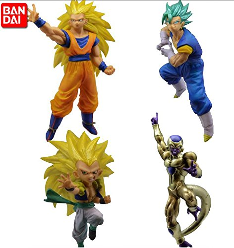 DRAGON BALL SUPER Complete Set 4 FIGURES Battle Figures SERIES 03 Bandai Gashapon DRAGONBALL