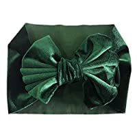 STRUGGGE Baby Headbands Turban Bow Knotted, Stretch Bow Hairbands for Newborn, Toddlers and Kids, verde, 14.5x19.5cm
