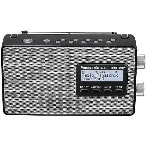 Panasonic RF-D10 - Radio de 2 W (Digital, DAB, DAB+, FM), negro