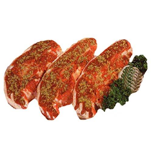 Lammkotelett, Lammrücken in Scheiben mariniert mit Knochen als Kotelett portioniert, 2.000 g